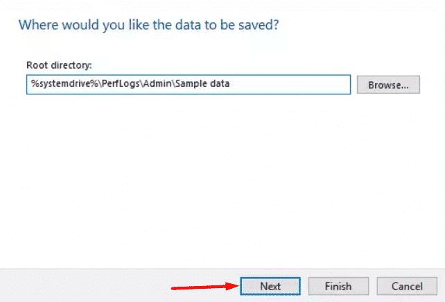 Guarde los datos de su informe de rendimiento 1