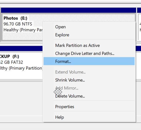 formatear unidades o particiones en Windows 10 pic4