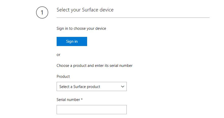 Imagen de recuperación de Microsoft Surface