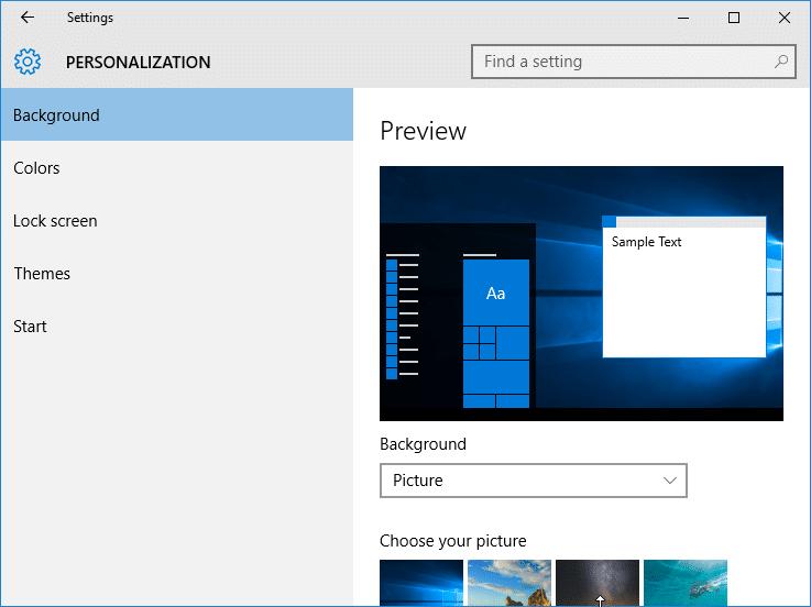 Diferencia entre la aplicación de configuración de Windows 10 y Windows 8 u 8.1