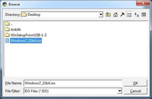 Instale la unidad flash USB o el disco duro de Windows 7 Paso 1