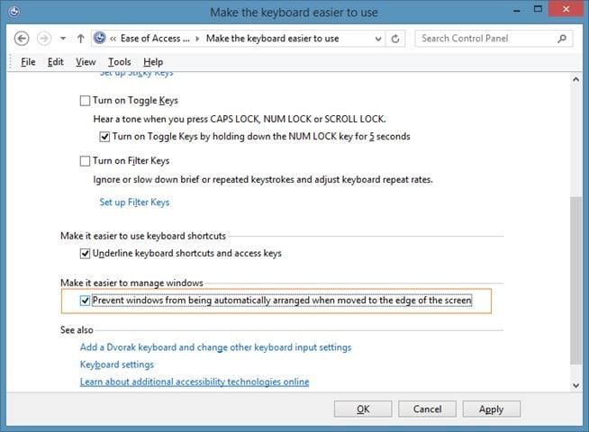 Desactivar la vista instantánea en Windows 7 o Windows 8 picture4