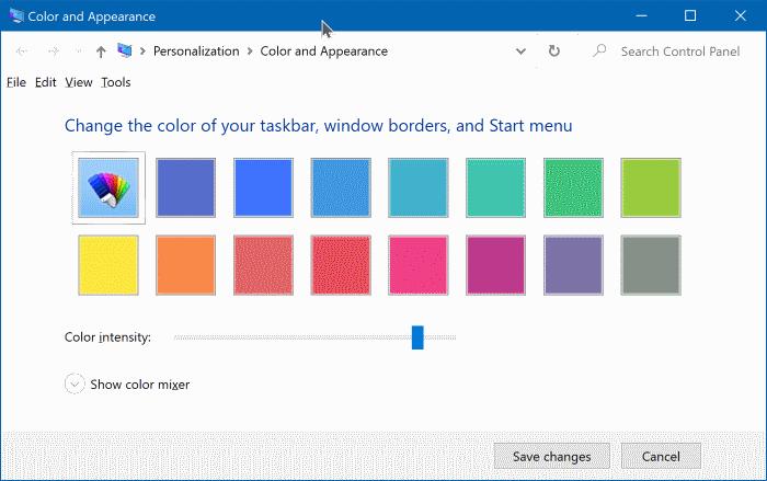 cambiar el color del menú de inicio en Windows 10