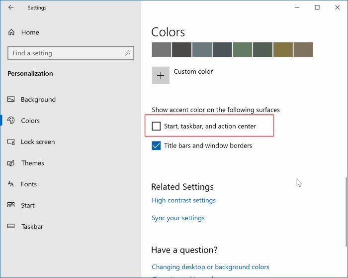 abrir la configuración del menú de inicio en Windows 10