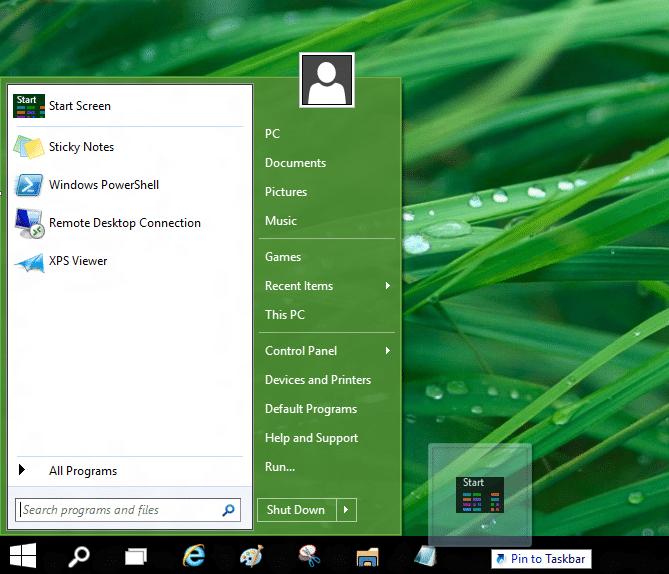 Use el inicio antiguo y el nuevo juntos en el sistema operativo Windows 10