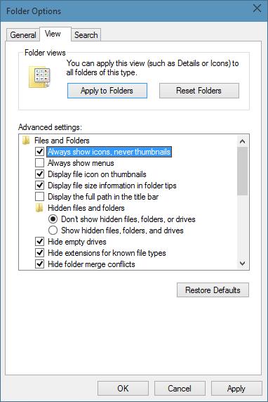 Iconos de carpeta de estilo de Windows 7 en Windows 10 step09