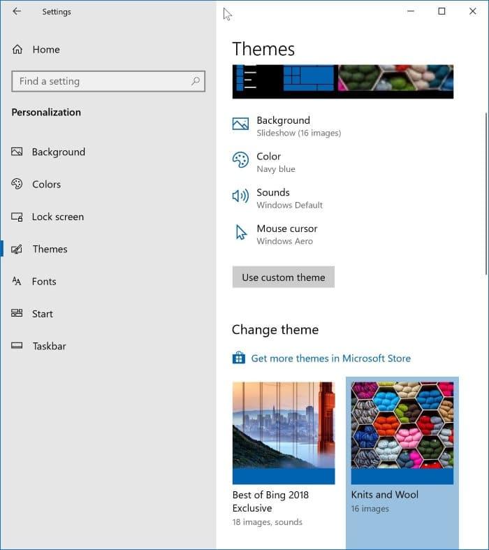 cambiar el tema de windows 10