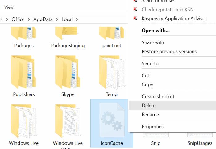 Reconstruir el caché de iconos de Windows 10 paso 4