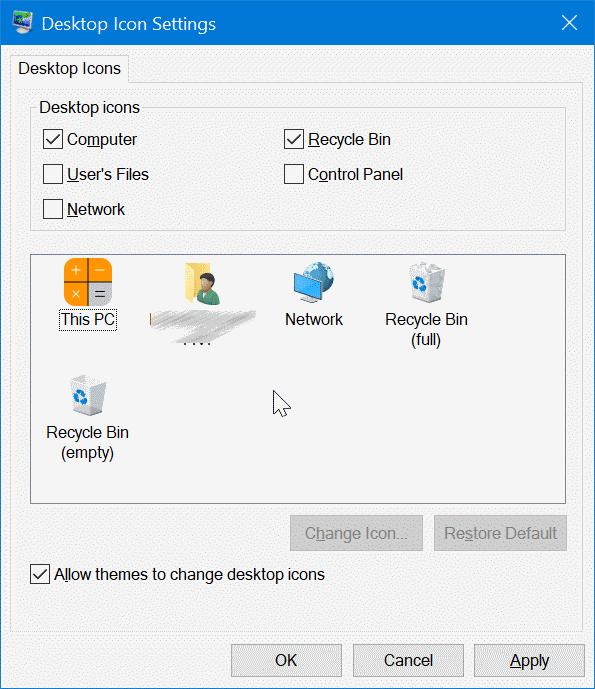 cambiar los iconos del escritorio en Windows 10 pic7