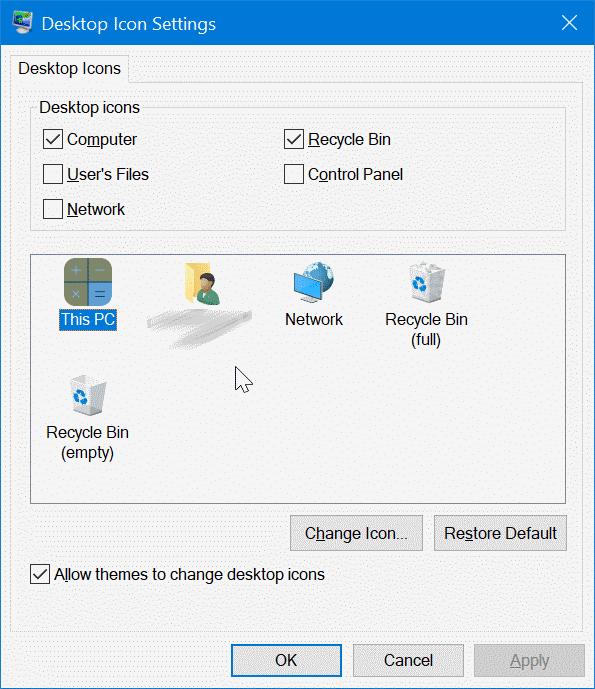cambiar los iconos del escritorio en Windows 10 pic8
