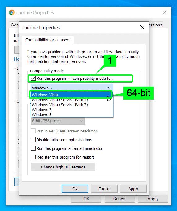Windows Vista: 64 bits