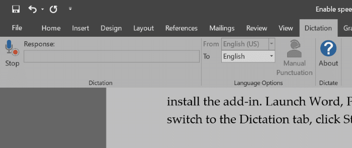 Dictar voz a texto para Office Word powerpoint y outlook pic1
