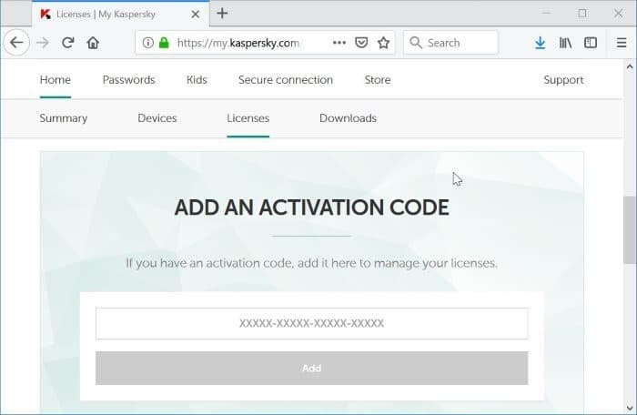 comprobar la validez del código de activación de Kaspersky pic2