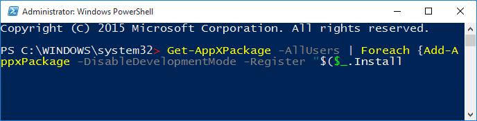El menú de inicio no funciona Windows 10 fix3
