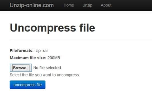 Abrir archivos rar y 7z en línea picture3