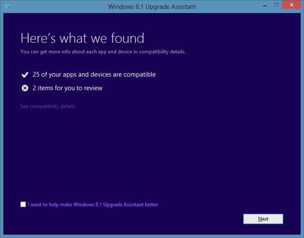 Pruebe si su PC puede ejecutar Windows 8.1