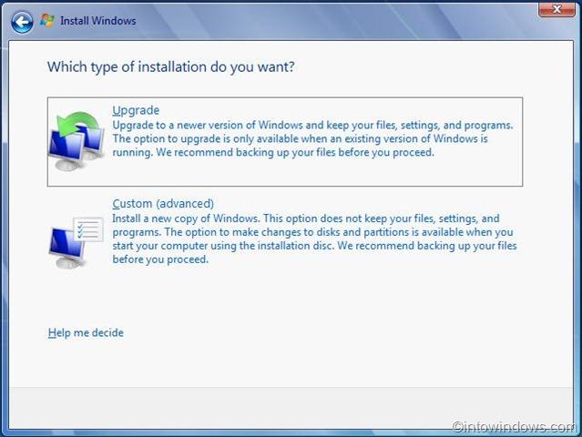 actualizar vista al procedimiento de windows 7