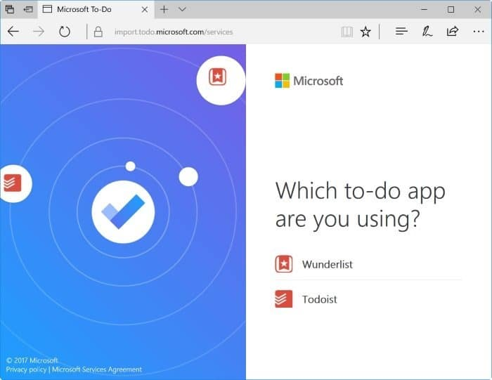 importar wunderlist y todoist a Microsoft To-Do pic2