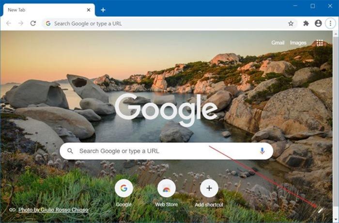 Desactivar la imagen de fondo de la nueva pestaña de Google Chrome pic1