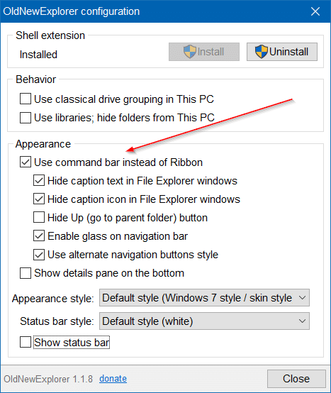 hacer que el Explorador de archivos de Windows 10 se vea como Windows 7 pic1.1