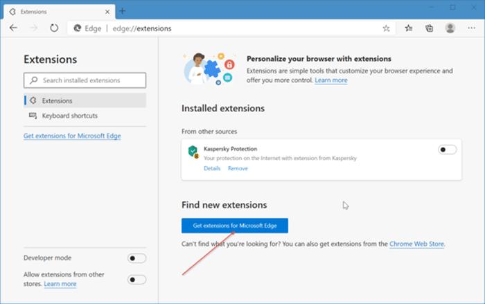 instalar y desinstalar temas en Microsoft Edge en Windows 10 pic1