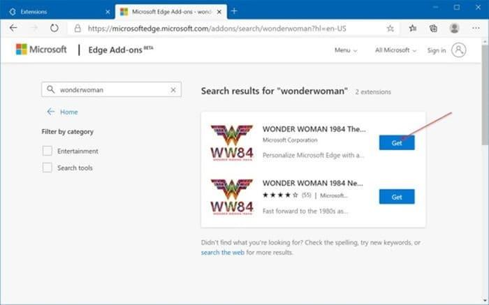 instalar y desinstalar temas en Microsoft Edge en Windows 10 pic5