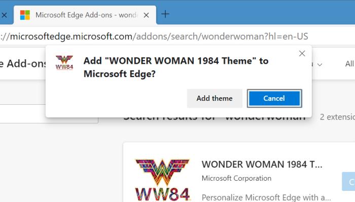 instalar y desinstalar temas en Microsoft Edge en Windows 10 pic6