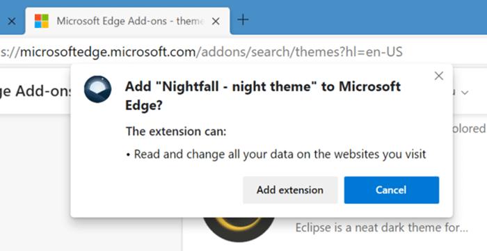 instalar y desinstalar temas en Microsoft Edge en Windows 10 pic7