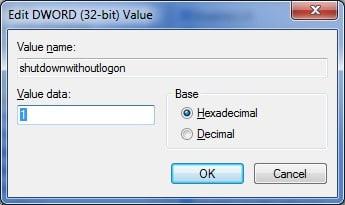 Corregir el botón de apagado que falta en la pantalla de inicio de sesión de Windows 7 step7
