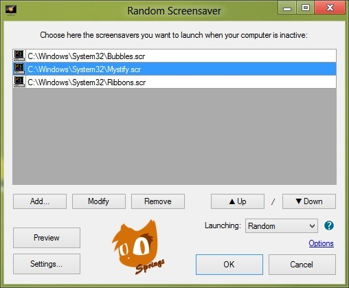 Girar los protectores de pantalla de Windows pic3