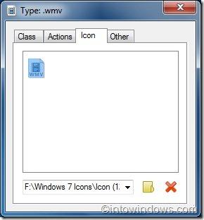 cambiar el icono de tipo de archivo en Windows 7 con la herramienta de tipos