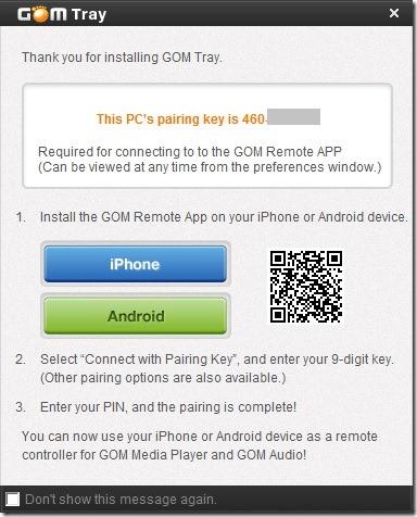 Controlar GOM Player desde el móvil