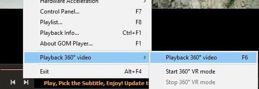 ver videos de 360 grados en Windows 10