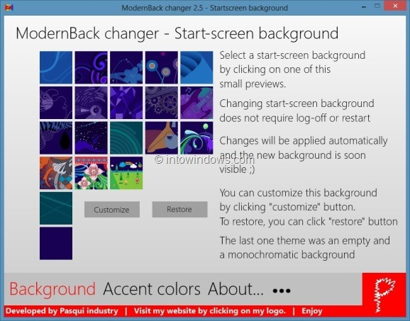 cambiar la imagen de fondo de la pantalla de inicio de Windows 8