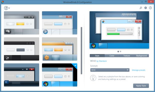 Cambiar el fondo de la carpeta en Windows 8.1 usando WindowBlinds Step5