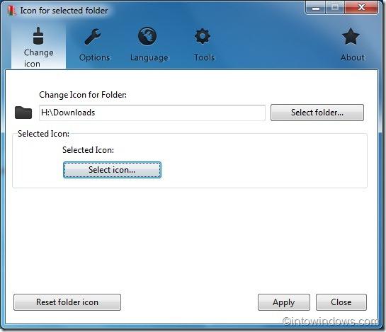 Cambiar el color y el icono de la carpeta en Windows 7