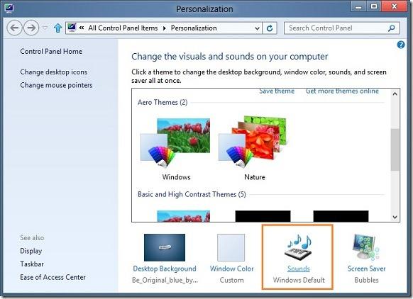 Habilite el sonido de inicio de Windows en Windows 8 Step2