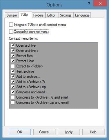 Elimine 7-zip del menú contextual en Windows step2