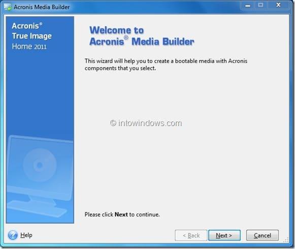 Inicie Acronis True Image desde una unidad flash USB Paso 2
