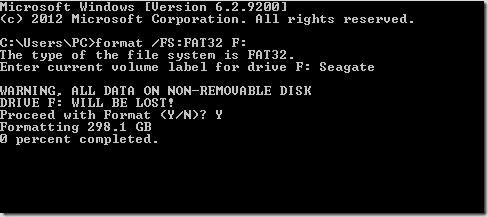 Formatear disco duro externo FAT32