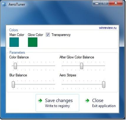 AeroTuner para Windows 7