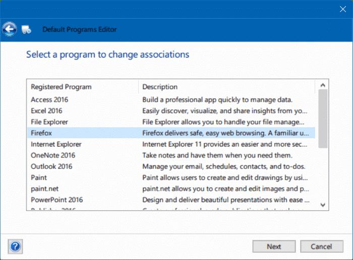 solución para no poder cambiar el navegador web o las aplicaciones predeterminadas Windows 10 pic6
