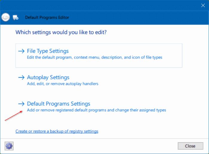 solución para no poder cambiar el navegador web o las aplicaciones predeterminadas Windows 10 pic5