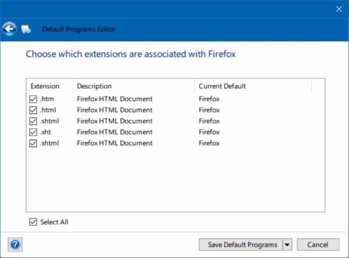 solución para no poder cambiar el navegador web o las aplicaciones predeterminadas Windows 10 pic7