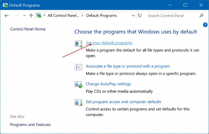 solución para no poder cambiar el navegador web predeterminado o las aplicaciones Windows 10 pic3