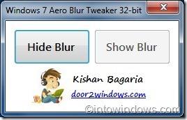Tweaker Aero Blur de Windows 7