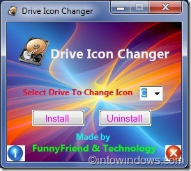 Drive Icon Changer para Windows7