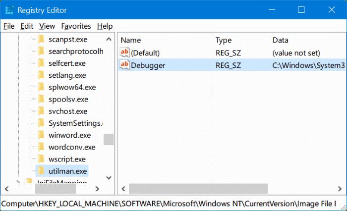 ejecutar cualquier programa desde la pantalla de inicio de sesión de Windows 10 pic4