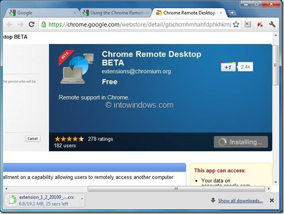 utilizar el escritorio remoto de Chrome step3