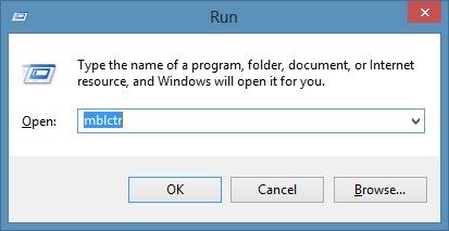 Abra el Centro de movilidad de Windows en Windows 8.1 Método 3 Paso 1
